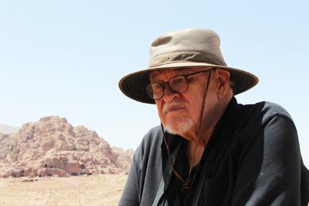 Dr. David Graf in Petra where he has discovered archeological findings for decades.