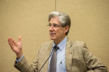 University of Miami President Julio Frenk speaks at the first Medical Humanities Summer Institute in May.
