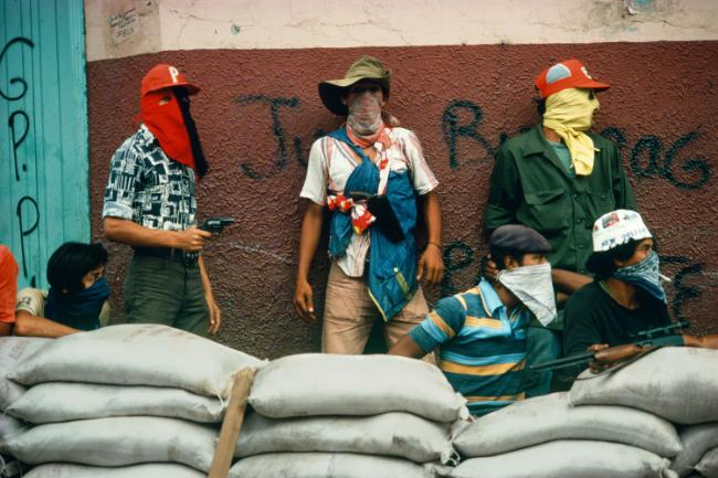 Muchachos await the counterattack by the National Guard Matagalpa 1978